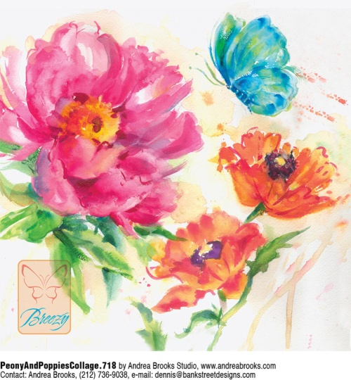 Peony andPoppies CollageThe first
