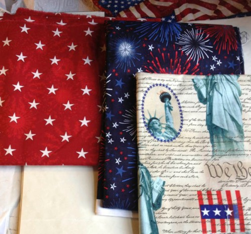 Patriotic fabrics for Robert Kaufman